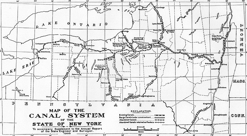 Erie Canal Making It Work Additional Information: New York Canal System Map At Slyspyder.com