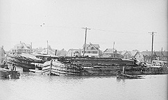 Erie Canal boat graveyard at Rochester