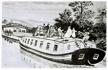 Packet boat on the Erie Canal