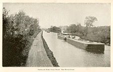 Fleet of steel canal boats