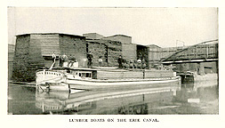 Lumber boats on the Erie Canal