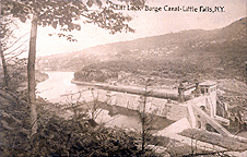 Lift Lock - Barge Canal - Little Falls, N.Y.