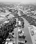 Aerial view of Lockport looking southwest