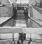 View of the Locks showing a boat locking through