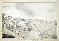 View of the Lockport locks - 1839 enlargement