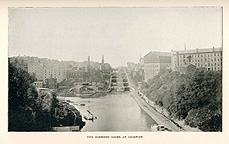 View of the Lockport Locks looking west