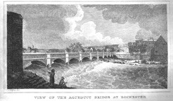 View of the Aqueduct bridge at Rochester