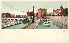 Where the Erie Canal crosses the Genesee, Rochester, N.Y.