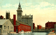 Erie Canal and City Hall, Rochester, N.Y.