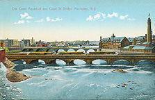 Erie Canal Aqueduct and Court St. Bridge