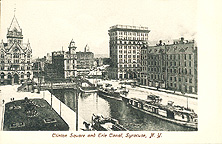Clinton Square and Erie Canal, Syracuse, N.Y., 1906