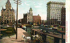 Syracuse, N.Y., Clinton Square and Erie Canal, 1906