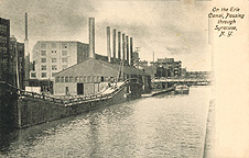 The Erie Canal passing through Syracuse