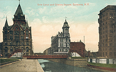 Erie Canal and Clinton Square, Syracuse, N.Y.