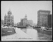 Erie Canal at Salina St., Syracuse, N.Y.