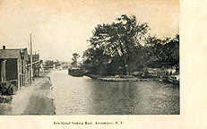 Erie Canal looking East, Amsterdam, N.Y.