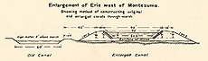 Enlargement of Erie west of Montezuma, 1862