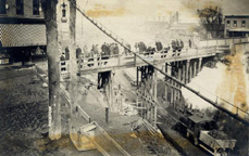 Construction scene, Main Street Bridge, Fairport, N.Y.