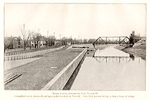 Barge Canal and bridge at Newark, N.Y.