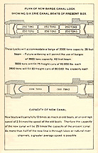 Plan of new Barge Canal lock with boat sizes
