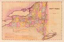 1825 map of New York State