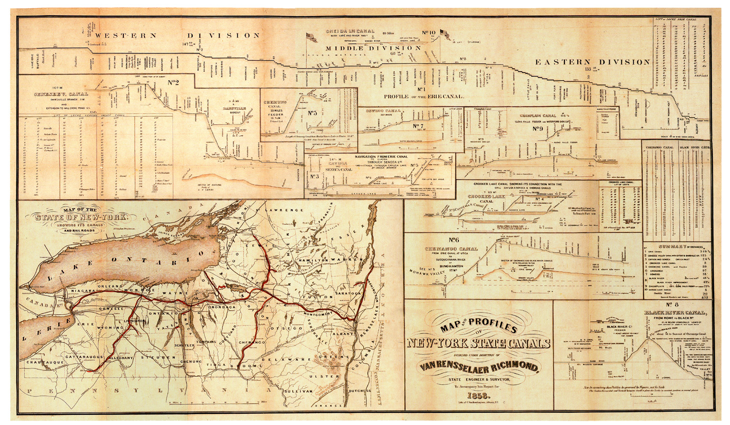 Erie Canal - Maps