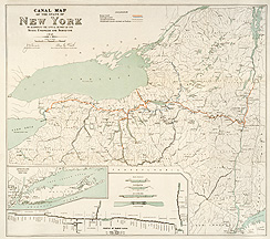 Canal Map of the State of New York