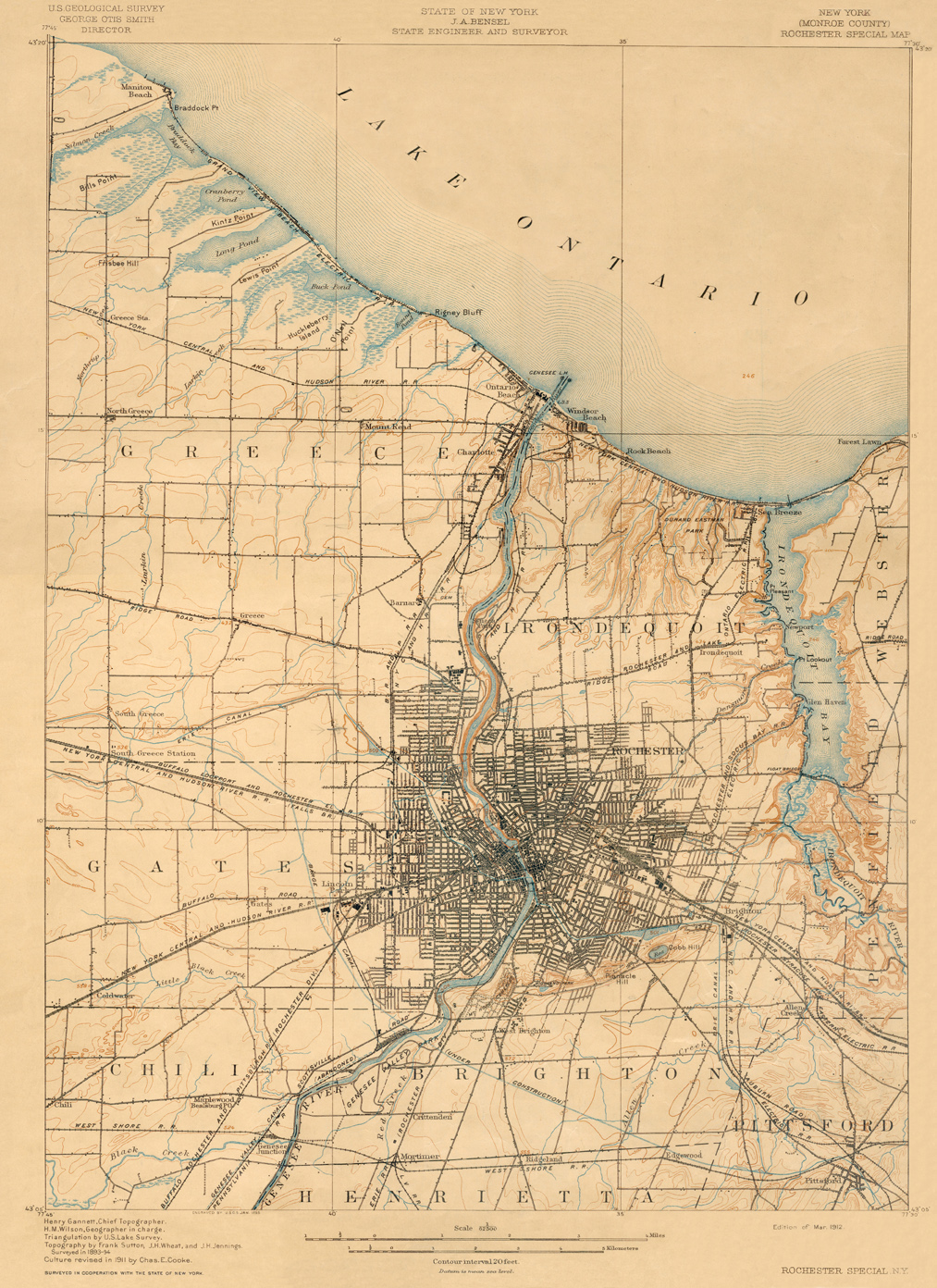 Old Map Of New York.Erie Canal Maps