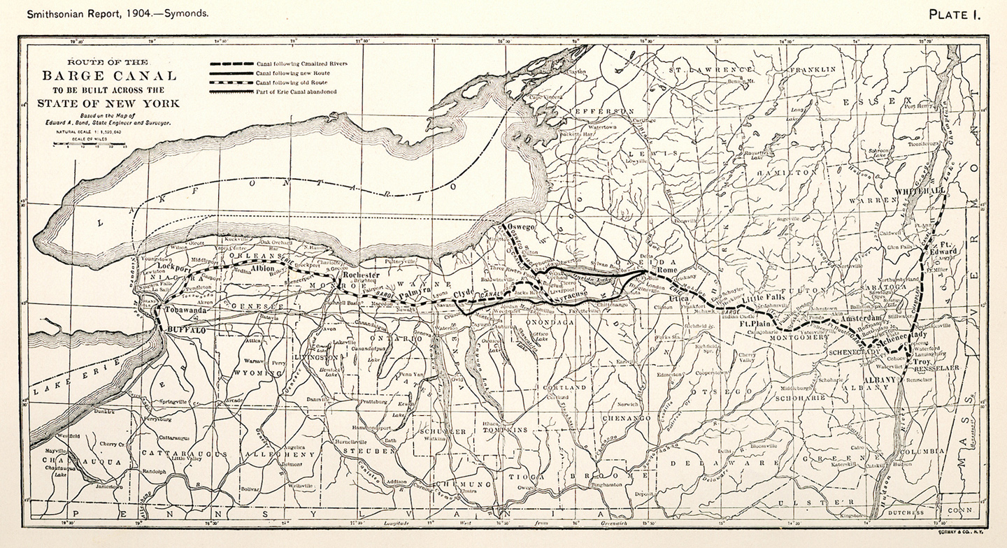Route Of The Barge C Map