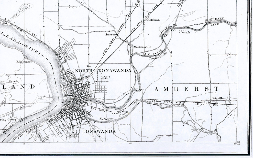 The Erie C Through Tonawanda N Y From The Topographic Map Niagara Falls And Vicinity U S Geological Survey 1894