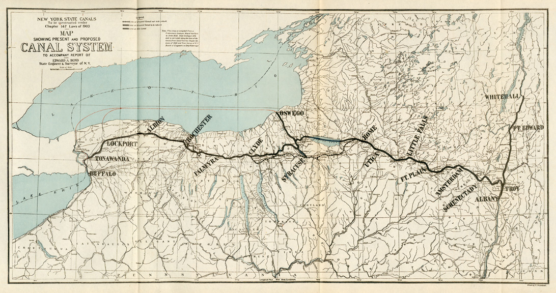 the growth of the nys business after the construction of the erie canal Is the project located on the new york state canal system in one or  if you are a business,  does the project support the erie canal bicentennial through.