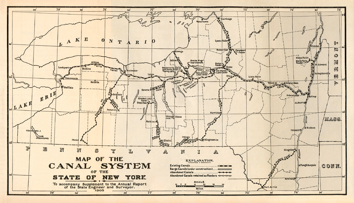 Erie Canal Maps - Maps of the state