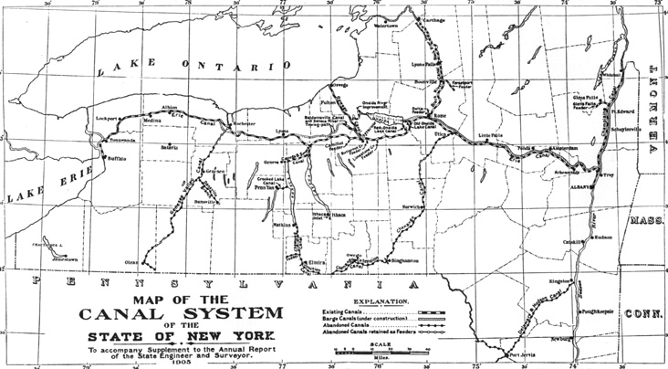 Whitford History Of The Canal System New York Introduction: New York Canal System Map At Slyspyder.com