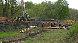 Nine Mile Creek Aqueduct restoration - Overview