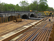 Nine Mile Creek Aqueduct restoration - Overview of the trunk construction