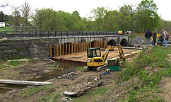 Nine Mile Creek Aqueduct restoration - Overall view