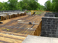 Nine Mile Creek Aqueduct restoration - Overview, May 22nd
