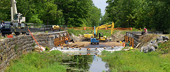 Nine Mile Creek Aqueduct restoration - Overview, June 10th