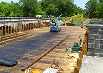 Nine Mile Creek Aqueduct restoration - Decking on June 10th