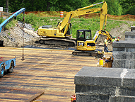 Nine Mile Creek Aqueduct restoration - Eastern end