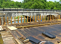 Nine Mile Creek Aqueduct restoration - View of the north side