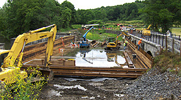 Nine Mile Creek Aqueduct restoration - Overview of the site