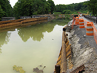 Nine Mile Creek Aqueduct restoration - Looking west