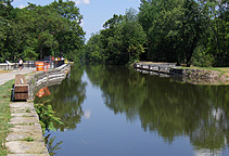 Nine Mile Creek Aqueduct restoration - Looking east