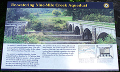 Nine Mile Creek Aqueduct restoration - descriptive sign