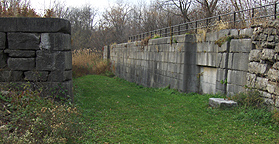 Erie Canal Lock No. 51 - The north chamber, looking west
