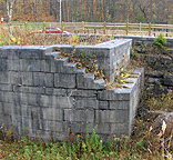Erie Canal Lock No. 51 - The west end of the north chamber, looking south