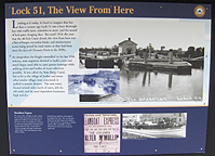 Interpretive sign at Erie Canal Lock No. 51, Jordan, N.Y.
