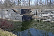 Erie Canal Lock No. 54 at Lock Berlin - eastern end