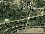 Google Earth view of Erie Canal Lock No. 54 and Lock Berlin